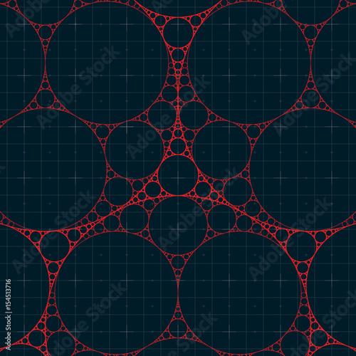 Cuadros en Lienzo Circular Fractal