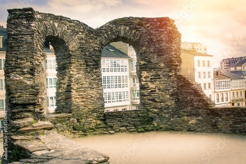 Wall of lugo, galicia, spain