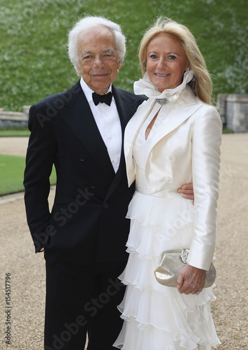 28bc19818 Ralph Lauren and Ricky Anne Loew-Beer arrive for a dinner to celebrate the  work of The Royal Marsden hosted by Britain Prince William at Windsor Castle