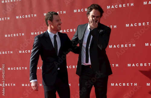 Actor Michael Fassbender and director Justin Kurzel arrive for the