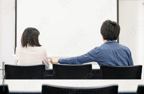 Fotografia, Obraz  女性にちょっかいをする男性