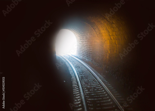 Railroad tunnel in to the mountain