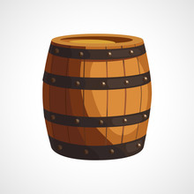 Cartoon Wooden Barrel