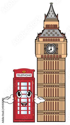 View Illustration Big Ben Cartoon Background