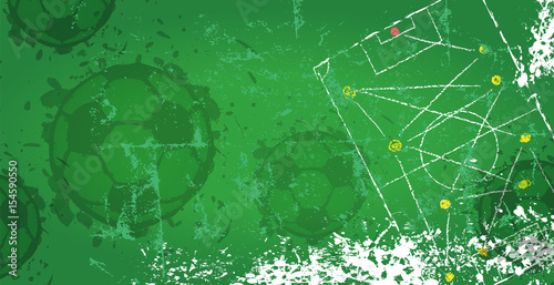 Fotografie, Tablou  Soccer / Football design template,free copy space, vector