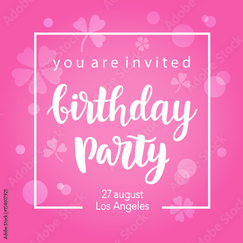 Fotografía  Birthday Party Invitation Banner Template