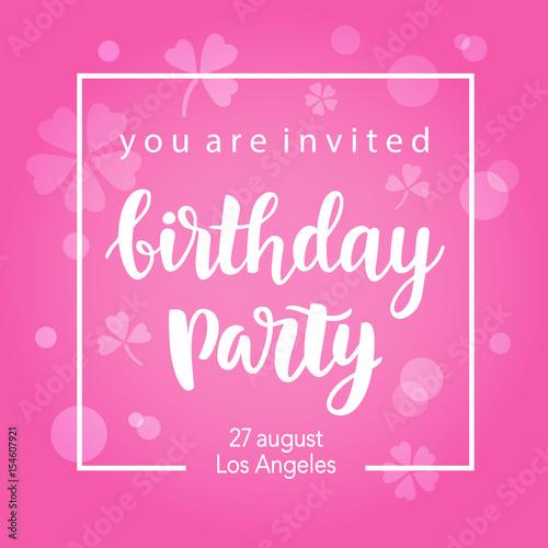 Fotografía  Birthday Party Invitation Banner Template