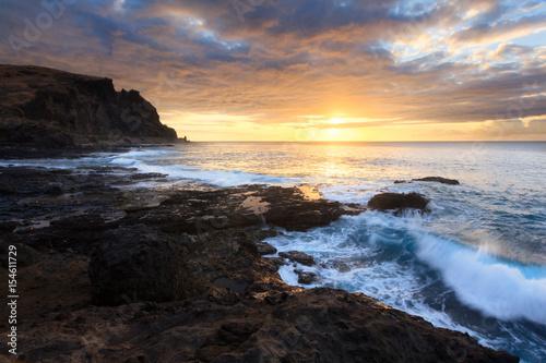 Recess Fitting Deep brown Coucher de Soleil au Cap La Houssaye, Réunion