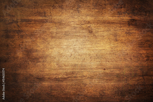 Fotografie, Obraz  Grunge Texture - Background HD Photo - Dark Brown Wood Concept