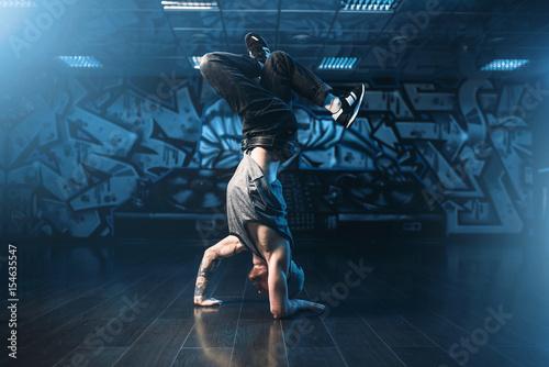 Breakdance motions, performer in dance studio Wallpaper Mural
