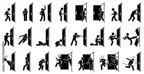 Fotografie, Tablou  Man and Door Pictogram