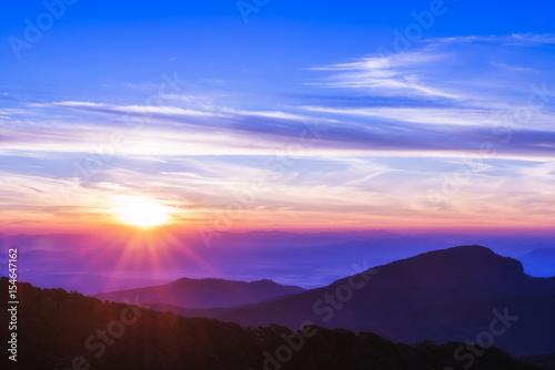 Obraz Sun rise and sun set sky background - fototapety do salonu