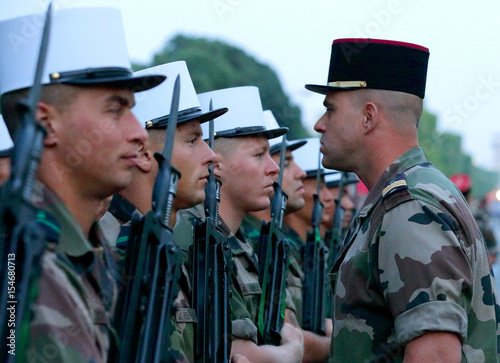 Soldiers From The French Foreign Legion Attend A Rehearsal Of The