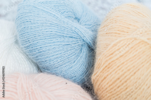 Ball of threads, yarn from angora Wallpaper Mural