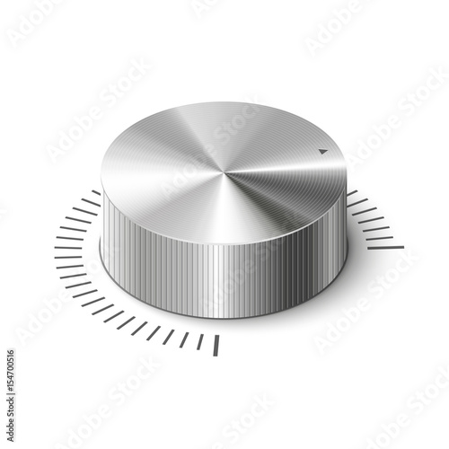 Fotografía  3D metallic volume regulator