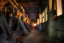 Old Abandoned Silo Elevator Wi...