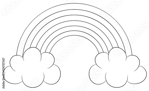 regenbogen mit wolken vektor illustration - kaufen sie