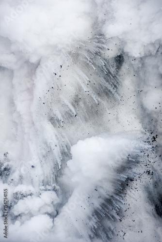 Deurstickers Bakkerij Explosion from volcano