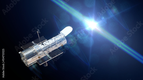 Fotografie, Obraz Hubble Space Telescope observing a star