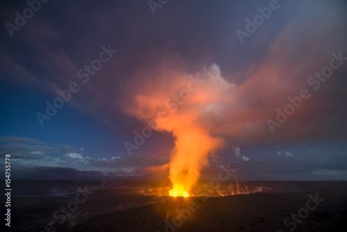 Fotografie, Obraz  Kilauea Volcano at Night