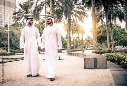 Fotografie, Obraz  Arabian men in the Emirates