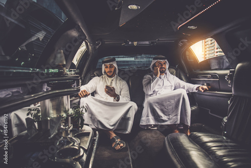 Photo  Arabian men in the Emirates