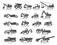 Construction Machinery Icons S...