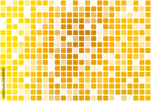 Bright golden yellow occasional opacity mosaic over white Canvas-taulu