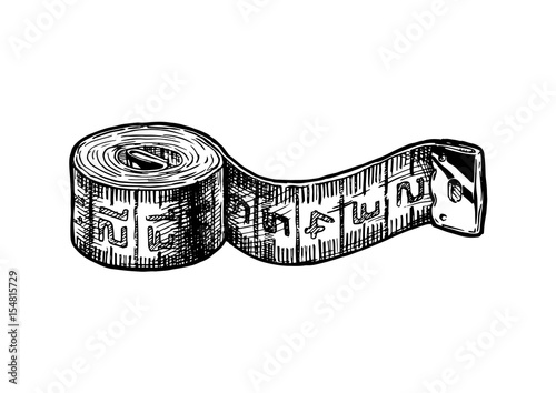 illustration of tape measure