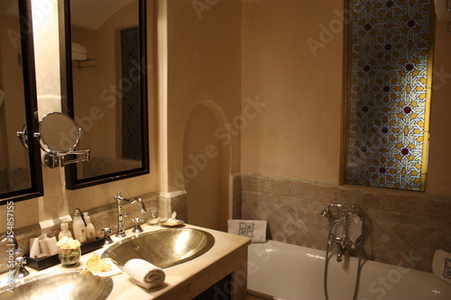 Salle de bain en Tadelakt - Buy this stock photo and explore ...
