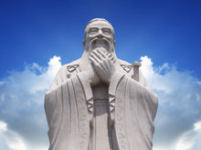 Confucius Statue With Sky Background