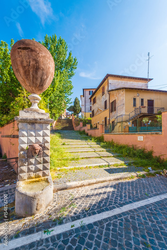 Photo  Rome, Italy - The suggestive popular Garbatella quarter in Ostiense district, an