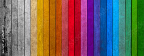 Fototapeta lamelles de bois colorés  obraz