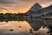 Grand Teton Sunrise, Wyoming, ...