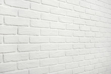 White Brick Wall, Angle View, ...