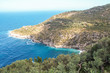 Punta Campanella and landscape of Sorrento's peninsula and island of Capri
