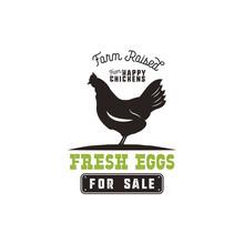 Farm Fresh Eggs Poster, Vintag...