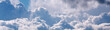 Leinwandbild Motiv Sky with big white clouds panorama