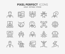 Business Thin Line Icons 1