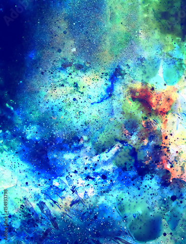 Printed kitchen splashbacks Light blue Cosmic space and stars, color cosmic abstract background. Winter effect.