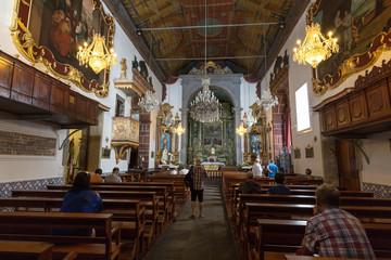 Fototapeta na wymiar  Igreja de Nossa Senhora do Monte Church (Our Lady of the Mount) in Monte near Funchal on the Portuguese island of Madeira.