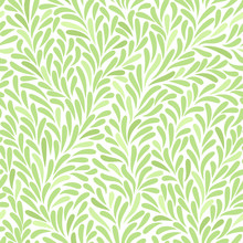 Seamless Pattern With Leafs