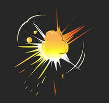 Isolated Explosion Icon.