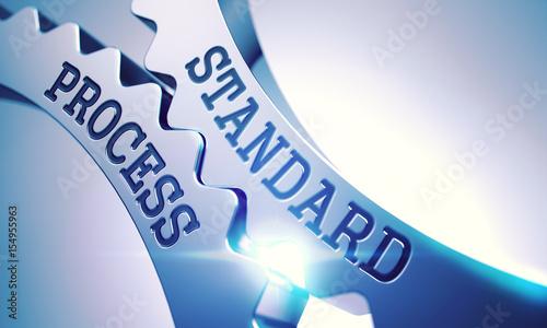 Carta da parati Shiny Metal Cog Gears with Standard Process Message
