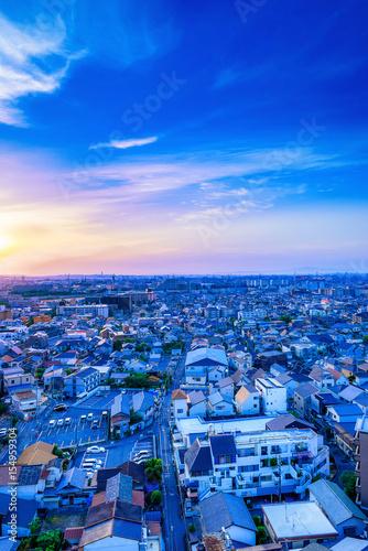 Foto op Plexiglas Blauw 都市風景 日本 住宅街