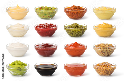 Cuadros en Lienzo  Bowl with sauce set