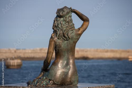 Pomnik usteckiej syrenki.
