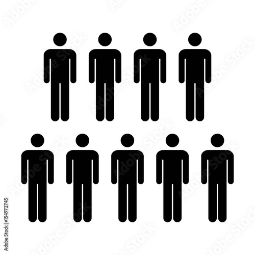 People Icon Vector Group Of Men Team Symbol For Business