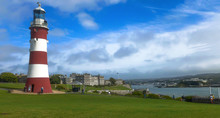 PLYMOUTH, DEVON, U.K. AUGUST, 25, 2014 - Plymouth. Smeatons Tower In Plymouth Hoe, England