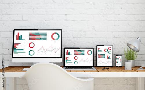 Fototapeta multidevice desktop finances obraz